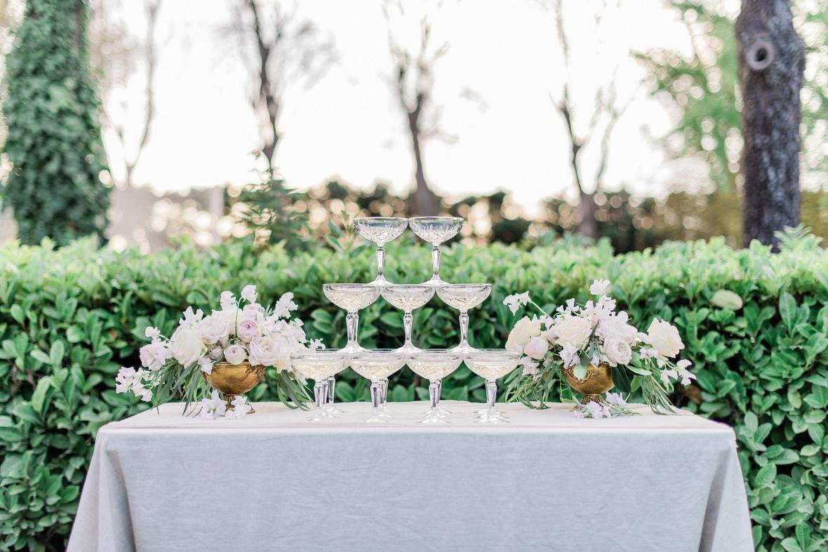fontaine de coupe de champagne