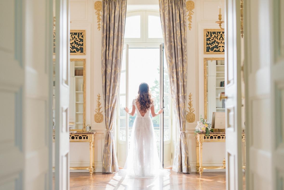 mariage portrait robe