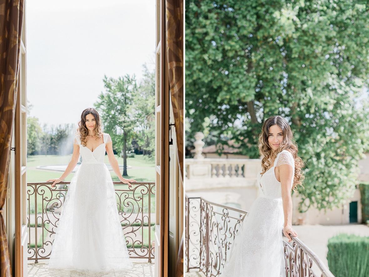 portrait mariée balcon