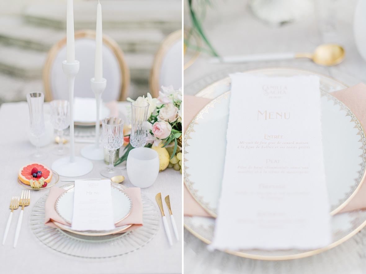 papeterie menu mariage