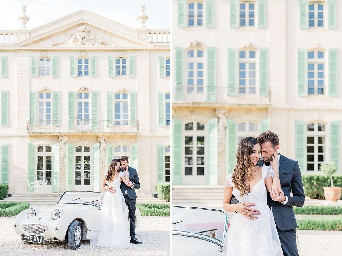 séance couple mariage château