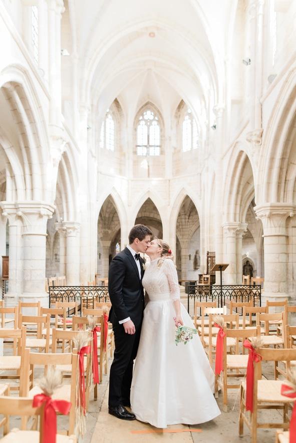 Cérémonie religieuse à l'église de Vézelay